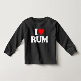 I LOVE RUM TODDLER T-SHIRT