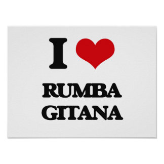 I Love RUMBA GITANA Poster