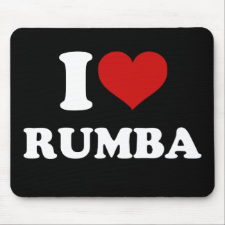 I Love Rumba Mouse Pad