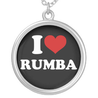 I Love Rumba Silver Plated Necklace