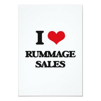 I Love Rummage Sales 3.5x5 Paper Invitation Card