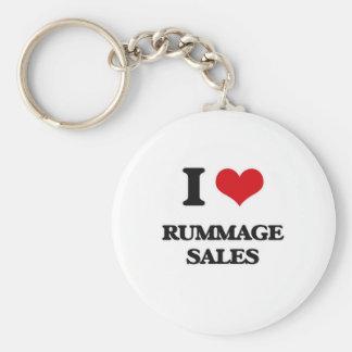 I Love Rummage Sales Keychain
