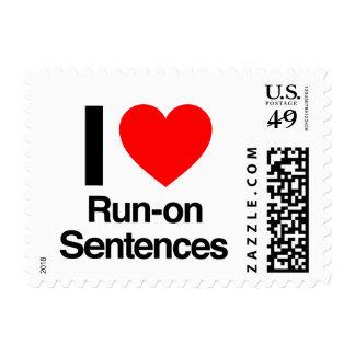 i love run-on sentences postage stamp