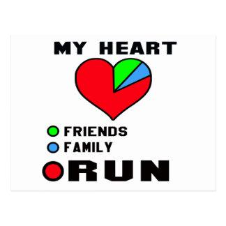 I love Run. Postcard