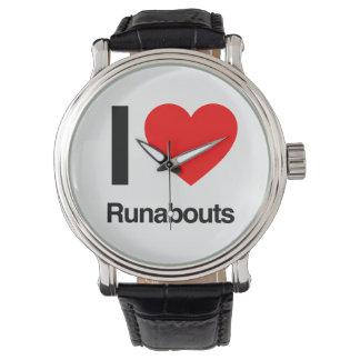 i love runabouts wristwatch