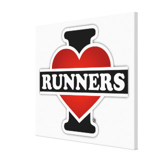 I Love Runners Canvas Print