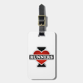 I Love Runners Luggage Tag