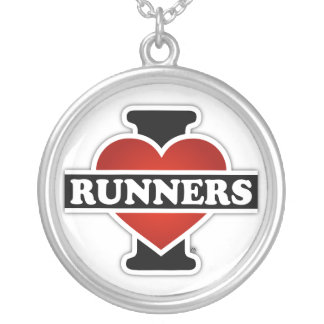 I Love Runners Silver Plated Necklace