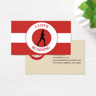 I LOVERUNNING BUSINESS CARD