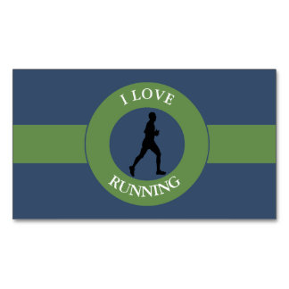 I LOVERUNNING BUSINESS CARD MAGNET