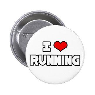 I Love Running Pin