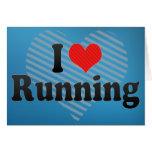 I Love Running Card