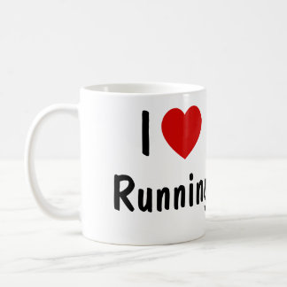 I Love Running Coffee Mug