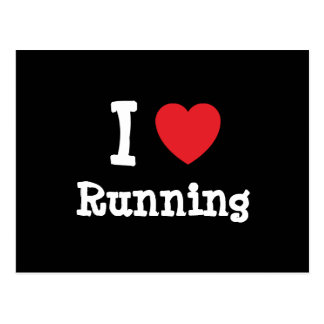 I love Running heart custom personalized Postcard