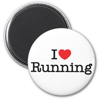 I love running magnet