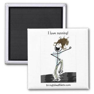 I love running! magnet