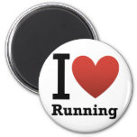 I Love Running Magnets