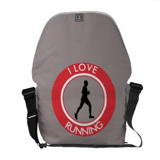 I LOVERUNNING MESSENGER BAG