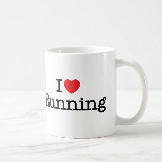 I love running classic white coffee mug