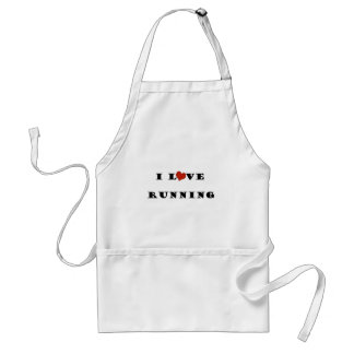 I Love Running.png Adult Apron