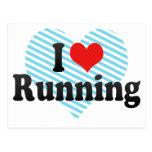 I Love Running Post Card