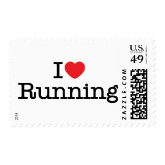 I love running postage stamp