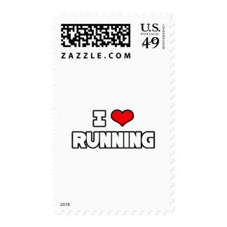 I Love Running Stamp