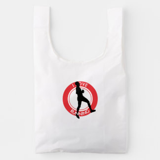 I LOVERUNNING REUSABLE BAG