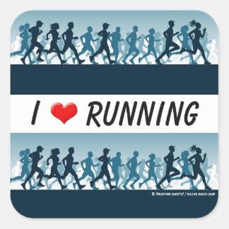 I love running sticker