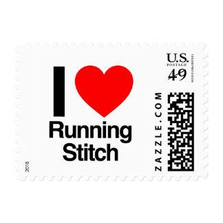 i love running stitch stamps