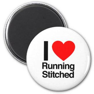 i love running stitched refrigerator magnets