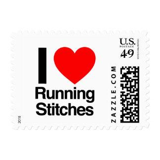 i love running stitches stamp