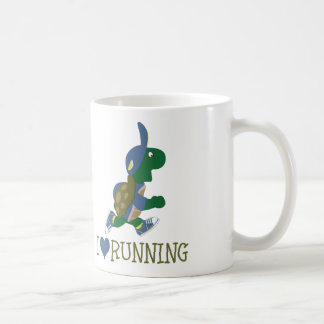 I love running turtle coffee mug