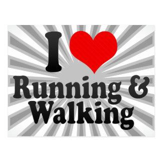 I love Running & Walking Postcard