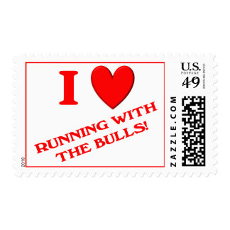 I Love Running with the Bulls Postage