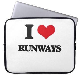 I Love Runways Laptop Sleeves