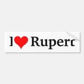 I love Rupert Bumper Sticker