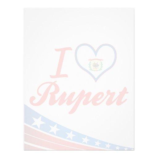 I Love Rupert, West Virginia Letterhead