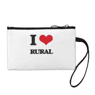 I Love Rural Coin Purse