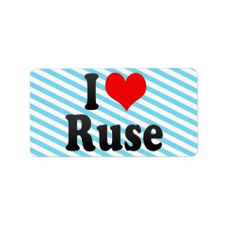 I Love Ruse, Bulgaria Personalized Address Label