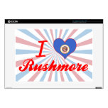 "I Love Rushmore, Minnesota Decals For 15"" Laptops"