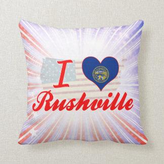 I Love Rushville, Nebraska Pillow