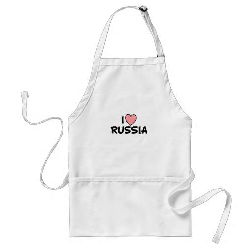 I Love Russia Apron
