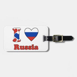 I love Russia Bag Tag