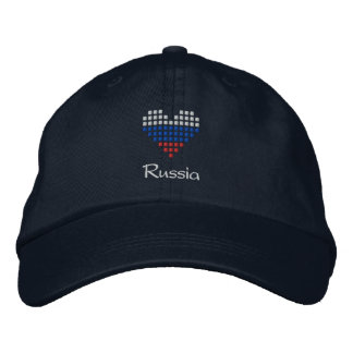 I Love Russia Cap - Russian Heart Flag Hat Embroidered Baseball Caps