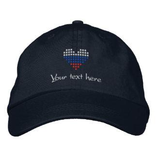 I Love Russia Cap - Russian Heart Flag Hat Baseball Cap
