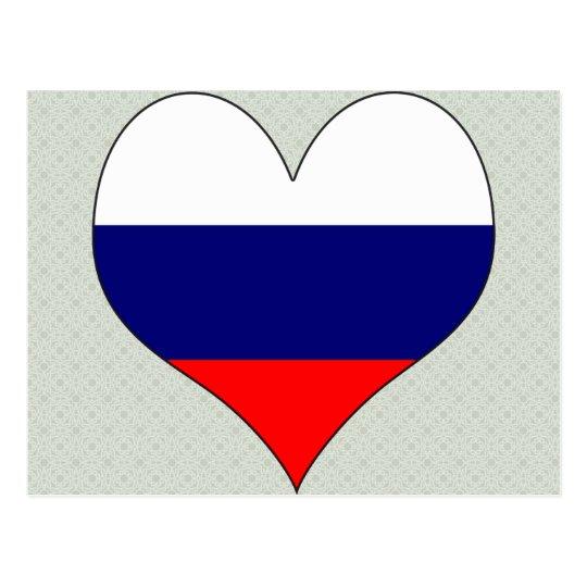 I Love Russia Postcard