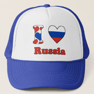I love Russia Trucker Hat