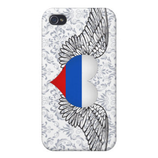 I Love Russia -wings Covers For iPhone 4
