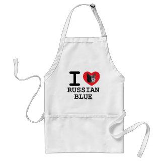 I Love Russian Blue Adult Apron